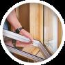 Установка деревянного стеклопакета